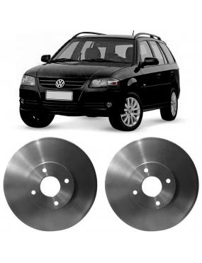 Par Disco de Freio Dianteiro Ventilado Volkswagen Gol   Parati   Quantum   Saveiro   Ford Royale   Versailles   Seat Cordoba   Ibiza
