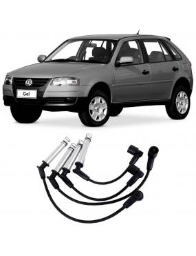 Jogo Cabo Vela Ignição Volkswagen Fox 1.0 1.6 8v 2004 a 2018 Crossfox 1.6 2008 a 2015 Saveiro 1.6 8v 2009 a 2018 Voyage 1.6 2009 a 2017 Polo 1.6 2003 a 2015 Golf 1.6 8v 2001 a 2016 Gol G4 1.0 8v 2005 a 2014 Audi A3 1.6 8v 2002 a 2010 NGK