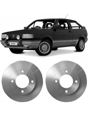 Par Disco Freio Dianteiro Sólido Volkswagen Saveiro 82 a 2009 Fremax
