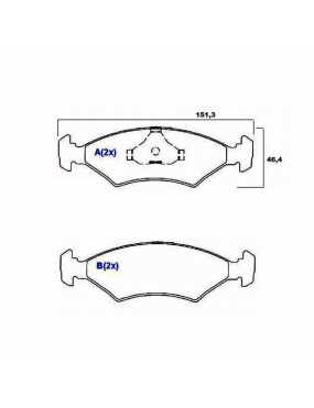 Kit Pastilha Freio Dianteira Ford Escort 1983 a 1992 Volskwagen Apollo 1.8 8v 1990 a 1992 Teves Syl