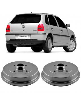 Par Tambor Freio Traseiro Com Cubo Volkswagen Gol G5 G6 2010 a 2016 Hipper Freios
