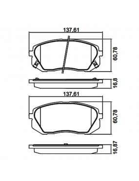 Kit Pastilha Freio Dianteira Hyundai IX35 2.0 16v 2011 a 2016 Kia Sportage 2.0 16v 2010 a 2016 Kasco Ecopads
