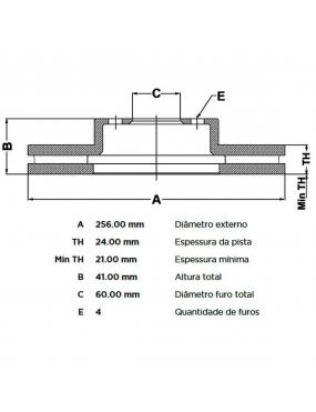 Par Disco Freio Dianteiro Ventilado Astra 1.8 2.0 99 a 2012 Fremax Aro 14
