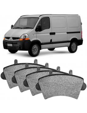 Kit Pastilha Freio Dianteira Renault Master 2002 a 2016 Bosch Ecopads