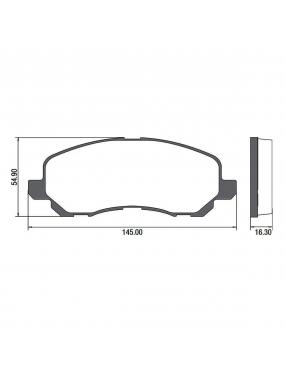 Kit Pastilha Freio Traseira Citroen C4 2005 a 2013 Bosch Ecopads