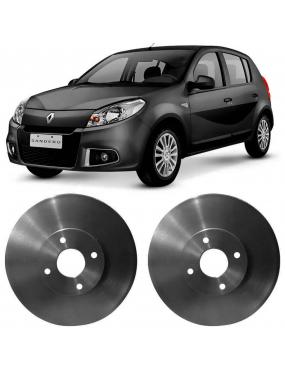 Par Disco Freio Dianteiro Sólido Renault Megane 97 a 2011 Hipper Freios