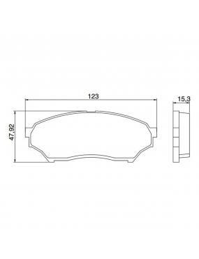 Kit Pastilha Freio Dianteira Mitsubishi Pajero 1999 a 2014 Sumitomo Syl