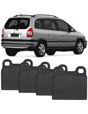 Kit Pastilha Freio Traseira Chevrolet Astra 1999 a 2012 Meriva 1.8 2003 a 2012 Teves Ecopads