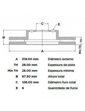 Par Disco Freio Dianteiro Ventilado Toyota Hilux 2002 a 2015 Fremax