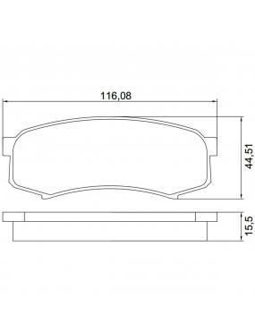 Kit Pastilha Freio Traseira Mitsubishi Pajero 2009 a 2016 Toyota Landcruiser 3.0 16v 2009 a 2012 Sumitomo Syl