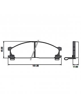 Kit Pastilha Freio Dianteira Mitsubishi Frontier 2.8 2002 a 2013 Nissan Terrano 3.0 1987 a 1999 Akebono Speed Brake
