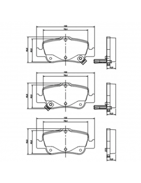 Jogo Pastilha Freio Traseira Toyota Corolla 2006 a 2019 Bosch Cobreq