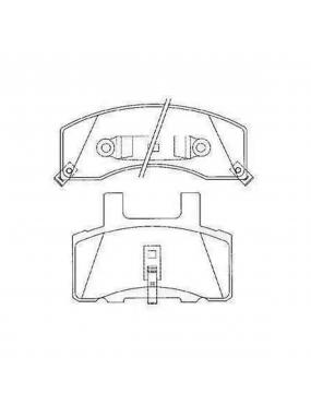 Jogo Pastilha de Freio Dianteira Sistema Bendix Dodge Ram 1500