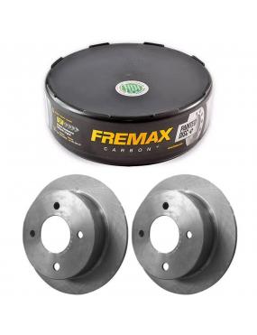 Par Disco Freio Dianteiro Sólido Fiat Palio 1.0 1.4 1.5 96 a 2016 Fremax