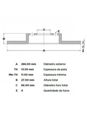 Par Disco Freio Dianteiro Sólido Peugeot 206 99 a 2010 Fremax