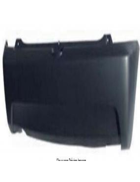 Parachoque Traseiro Chevrolet Celta 2007 a 2011 Preto Liso 1744 DTS