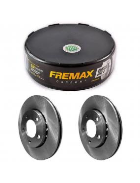 Par Disco Freio Dianteiro Ventilado Renault Duster 2.0 2012 a 2018 Fremax