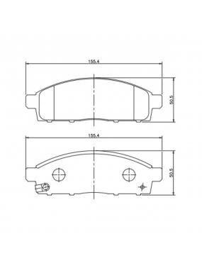 Jogo Pastilha de Freio Dianteira Mitsubishi Pajero 98 a 2015 Tokico Cobreq