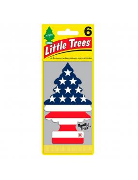 Aromatizante Car-Freshner Baunilha Bandeira EUA Little Trees