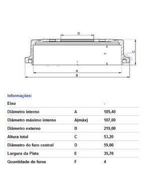 Par Tambor Freio Traseiro Sem Cubo Fiat Uno 85 a 2013 Fremax
