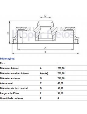 Par Tambor Freio Traseiro Chevrolet Agile 1.4 2010 a 2015 Celta 2001 a 2016 Fremax