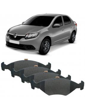 Jogo Pastilha Freio Dianteira Renault Logan 2014 a 2019 Teves Cobreq