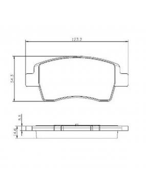 Jogo Pastilha Freio Dianteira Toyota Etios Hatch 2013 a 2018 Akebono Cobreq