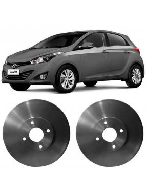 Par Disco Freio Dianteiro Ventilado Hyundai HB20 1.0 2013 a 2018 Fremax