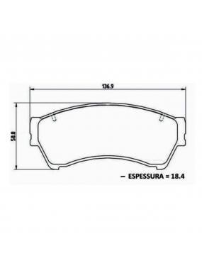 Kit Pastilha Freio Traseira Ford Fusion 2006 a 2014 Fomoco Ecopads