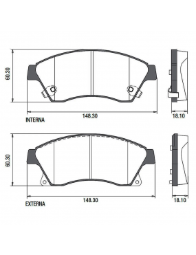 Kit Pastilha Freio Dianteira Chevrolet Cruze 1.8 2012 a 2014 Bosch Ecopads