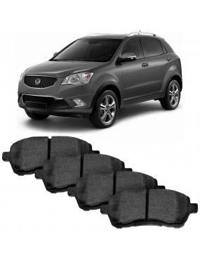 Kit Pastilha Freio Dianteira Hyundai Genesis 3.8 2012 a 2014 Kia Mohave 2008 a 2018 Mando Ecopads