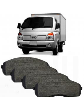 Jogo Pastilha Freio Dianteira Hyundai Hr 2.5 2006 a 2018 Akebono Ecopads