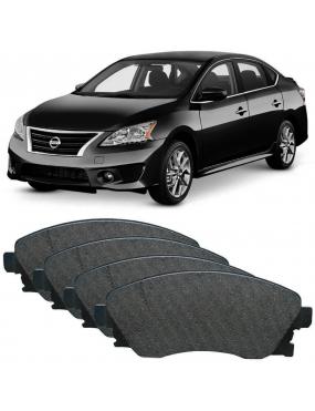 Kit Pastilha Freio Dianteira Nissan Sentra 2.0 2007 a 2016 Akebono Ecopads