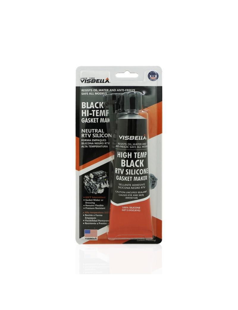 Cola de Silicone Preta Resistente a Óleo 150g - Visbella