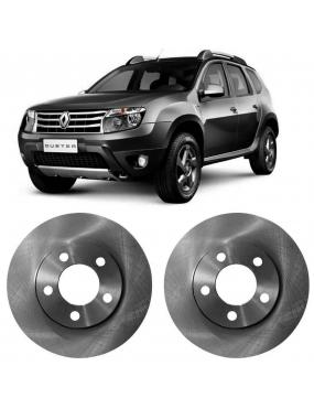 Par Disco Freio Dianteiro Ventilado Renault Duster 2.0 2012 a 2018 Hipper Freios