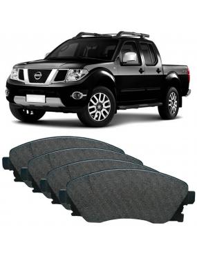 Kit Pastilha Freio Dianteira Mitsubishi Frontier 2.8 2002 a 2013 Nissan Terrano 3.0 1987 a 1999 Akebono Ecopads