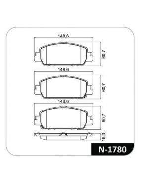 Kit Pastilha Freio Dianteira Honda HRV 1.8 2015 a 2016 Akebono Cobreq