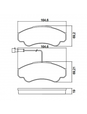 Kit Pastilha Freio Dianteira Fiat Ducato 2002 a 2016 Peugeot Boxer 2.8 8v 2002 a 2009 Bosch Ecopads